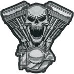 Skull Motor Embroidered Patch - LT30069