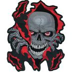 Skull Rip Embroidered Patch - LT30052