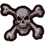 Skull N Bones Mini Embroidered Patch - MN32011
