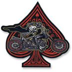 Ace Skeleton Rider Embroidered Patch - LT30176
