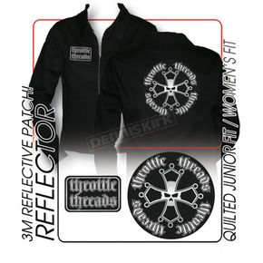 Throttle Threads Womens Reflector Shop Jacket - TT58J15BKSR