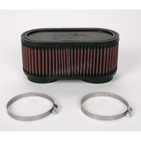 K & N Oval-Type Custom Clamp-On Air Filter Kit - RU-2970