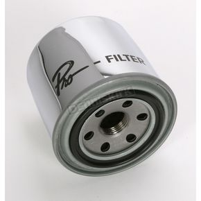 Parts Unlimited Chrome Oil Filter - 01-0064