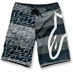 Alpinestars Black MTLB Stripe Boardshorts - 11112401710A30