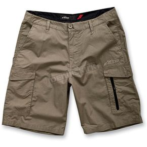 Alpinestars Army Green Mike Check Cargo Shorts - 1013-230336936