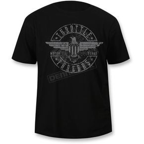 Throttle Threads Black Regal Eagle T-Shirt - TT606DT104BK3R