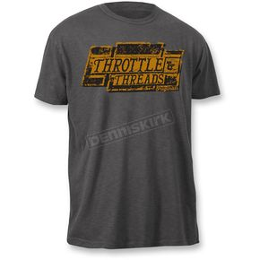 Throttle Threads Dark Gray Boxed Out T-Shirt - TT601S108HCXR