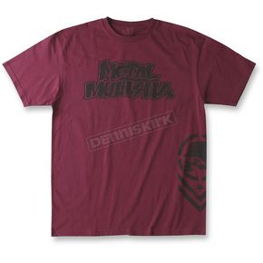Metal Mulisha Burgandy OG Chevron T-Shirt - M155S18145BURM