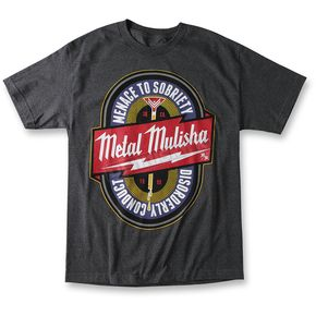 Metal Mulisha Charcoal Heather Sobriety T-Shirt - M155S18130CHH2X