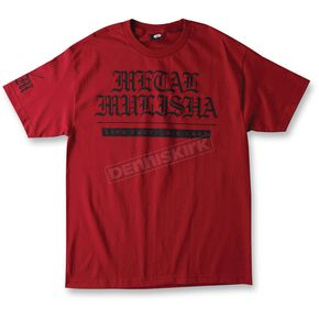Metal Mulisha Red Old Days T-Shirt - M155S18104REDM