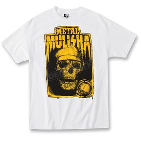 Metal Mulisha White Night Stalker T-Shirt - M155S18124WHTL