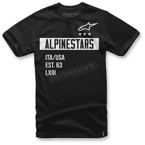 Alpinestars Black Valiant T-Shirt  - 1036-72002-10L