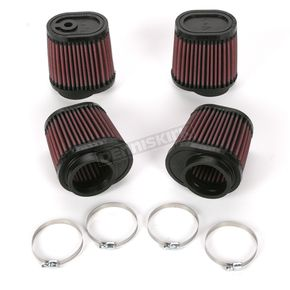K & N Oval-Type Custom Clamp-On Air Filter Kit - RU-2989