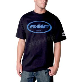 FMF Black/Blue Classic Don T-Shirt - F211S18103BLXL