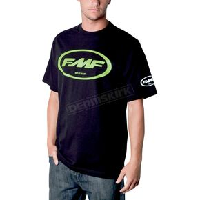 FMF Black/Green Classic Don T-Shirt - F211S18103GNL