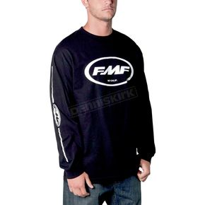 FMF Black Oil Slick Long Sleeve Shirt - F311S19002BKS