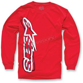 Alpinestars Red Algorithm Long Sleeve Shirt - 10327106030S