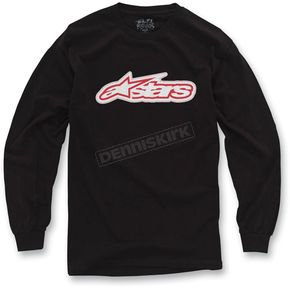 Alpinestars Black Full Grain Long Sleeve Shirt - 10327106310S