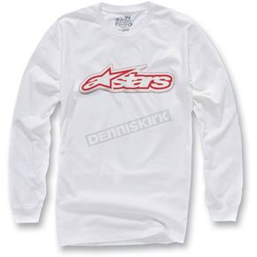 Alpinestars White Full Grain Long Sleeve Shirt - 10327106320M