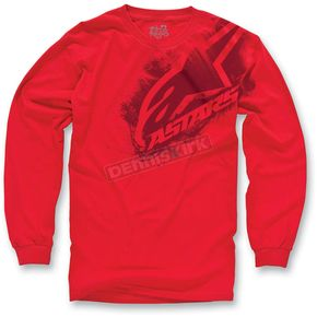 Alpinestars Red Primer Long Sleeve Shirt - 10327106430L