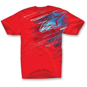 Alpinestars Red Cosmo T-Shirt - 10327204530L