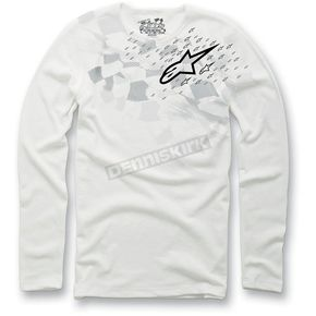 Alpinestars White Buckshot Thermal Long Sleeve Shirt - 10327507120L