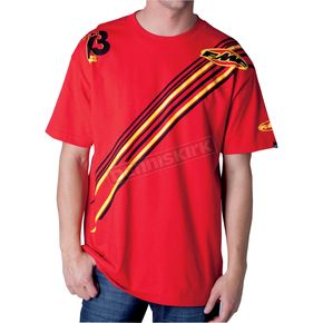 FMF Cardinal Red Race Ready T-Shirt - F421S18112REDL