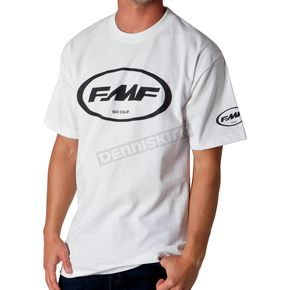 FMF White/Black Classic Don T-Shirt - F211S18103WBKXX