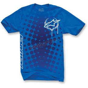 Alpinestars Blue Daredevil T-Shirt - 1013-7205079L