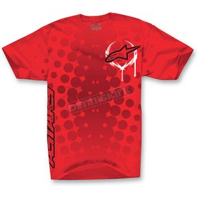 Alpinestars Red Daredevil T-Shirt - 1013-7205030L