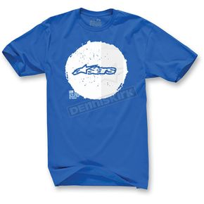 Alpinestars Blue Copy Dot T-Shirt - 1013-7205279L