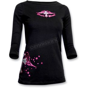 Throttle Threads Womens Angelic T-Shirt - TT434T82BK2RA