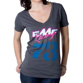 FMF Womens Charcoal Grizzly T-Shirt - F424S18107CH
