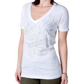 FMF Womens White Suave T-Shirt - F424S18103WH