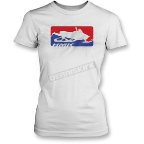 HMK Womens White Official T-Shirt  - HM2SSTOFFWWL