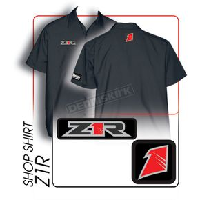 Throttle Threads Z1R Shop Shirt - Z1R7S24BK3R