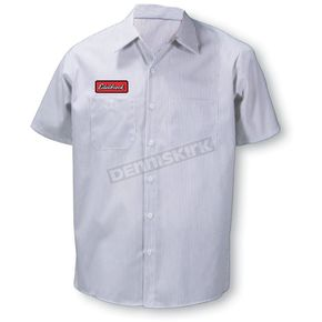 Throttle Threads Edelbrock Striped Shop Shirt - EDL1S20CWMR