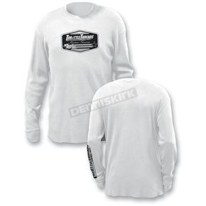 Throttle Threads White Thermal Shirt - TT200T80WHLR