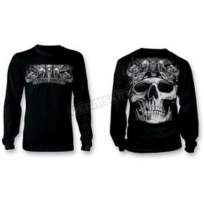 Lethal Threat Biker Skulls Long Sleeve Tee - LT20206XXL