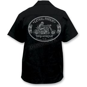 Lethal Threat LT Custom Motorcycles Embroidered Work Shirt - FE50102XXXL