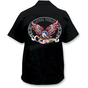 Lethal Threat USA Eagle Embroidered Work Shirt - FE50104XXXL