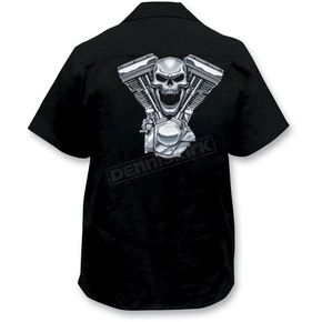 Lethal Threat Evil Twin Engine Embroidered Work Shirt - FE50124XXXL