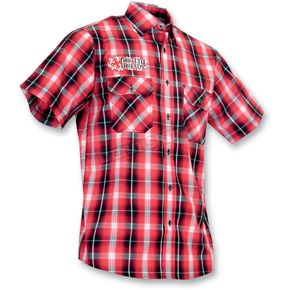 Throttle Threads Kilted Red Shop Shirt - TT410ST99BR2R