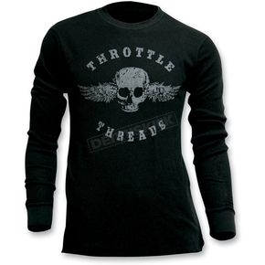 Throttle Threads Originals Thermal Long Sleeve Shirt - TT421T83BK2RA