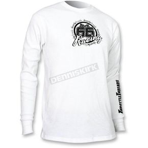 Throttle Threads White Thermal Long Sleeve Shirt  - TT444T80WH2R