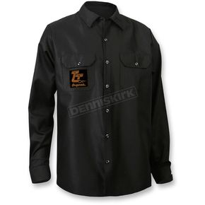 Throttle Threads Black Originals Long-Sleeve Shop Shirt - TT612S34BKMR