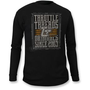 Throttle Threads Black Thermal Thunder Shirt - TT616T94BKXR