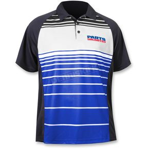 Throttle Threads Blue Parts Unlimited Polo Shirt - PSU26S61RBLR