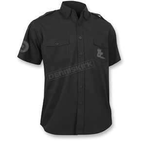 Throttle Threads Black Vintage Shop Shirt - TT624S79BK3R