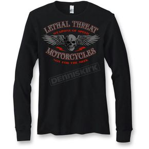 Lethal Threat Black Not For The Meek Thermal Long Sleeve Shirt - LT20285XL